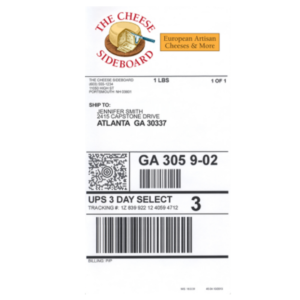 Color Shipping UPS Label