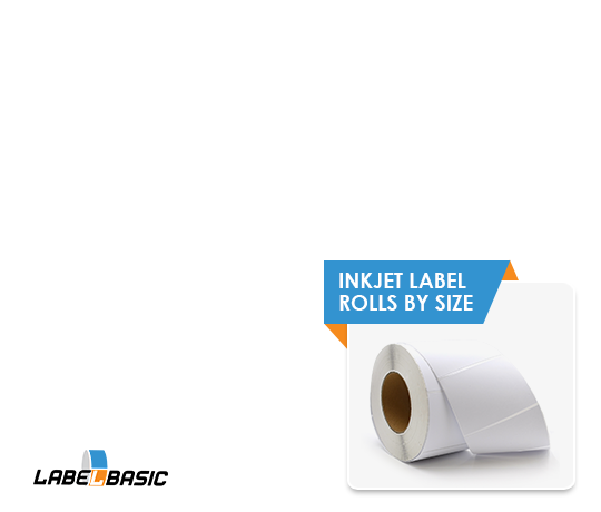Inkjet Label Rolls by Size