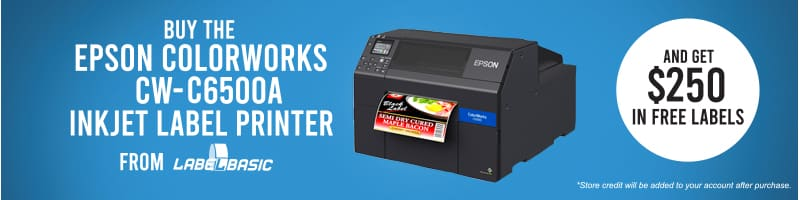 Buy CW-C6500A from LabelBasic and get $250 Free Labels Today