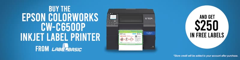 Buy CW-C6500P from LabelBasic and get $250 Free Labels